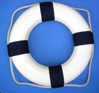 Blue White Nautical Life Preservers Buoys