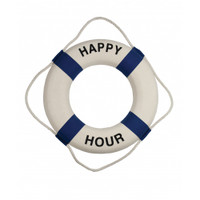 Blue White Happy Hour Life Buoys