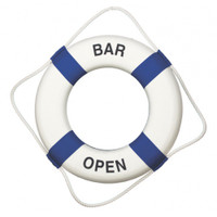 Blue White Bar Open Life Preservers
