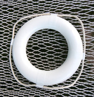 "24"" White Life Ring Decor Preserver"