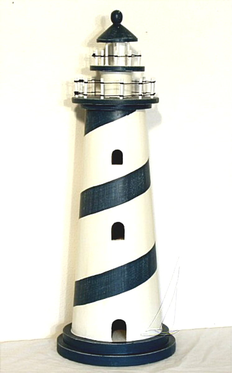 36 Inch Tall Nautical Wood Lighthouse