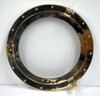 "8"" and 11.5"" Lacquered Brass Porthole Windows"