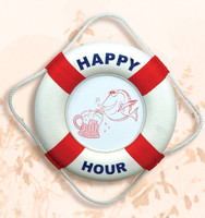 Red White Happy Hour Life Buoy
