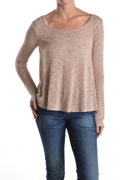 Round Neck Light Knit Swing Sweater