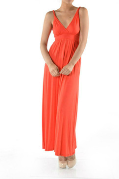 TWIST STRAP SOLID MAXI DRESS