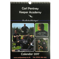 Keeper Academy Calendar, 2017 by Carl Pentney. Available now from Andreas Carter Sports.
