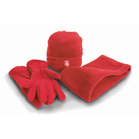 Hat/Gloves/Neck warmer set, by . Available now from Andreas Carter Sports.