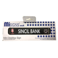 Lincoln City Mini Desktop Sign Sincil Bank by Mi Signs. Available now from Andreas Carter Sports.