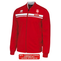 Lincoln City, Wembley Walkout Jacket by Errea. Available now from Andreas Carter Sports.