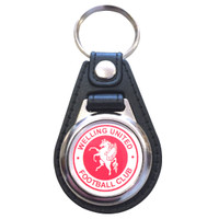 Welling United Leather Keyring by Ascar. Available now from Andreas Carter Sports.
