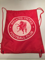Welling United Drawstring Bags by Ascar. Available now from Andreas Carter Sports.