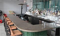 commercial concrete bartop & countertop