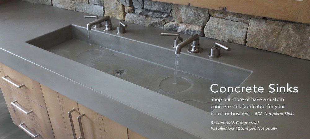 Trueform Custom Concrete Sink For The Bathroom. Ada Compliance For The  Home, Office,