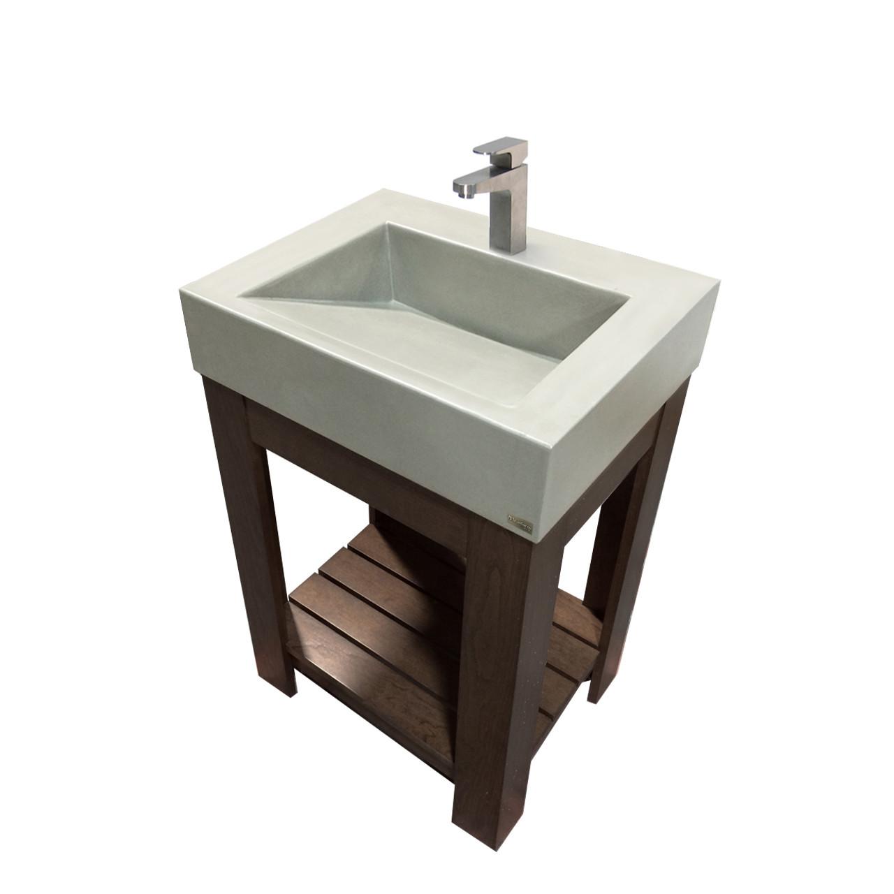 Trueform Vallum Concrete Bathroom Vanity Sink Is A Modern Sink With