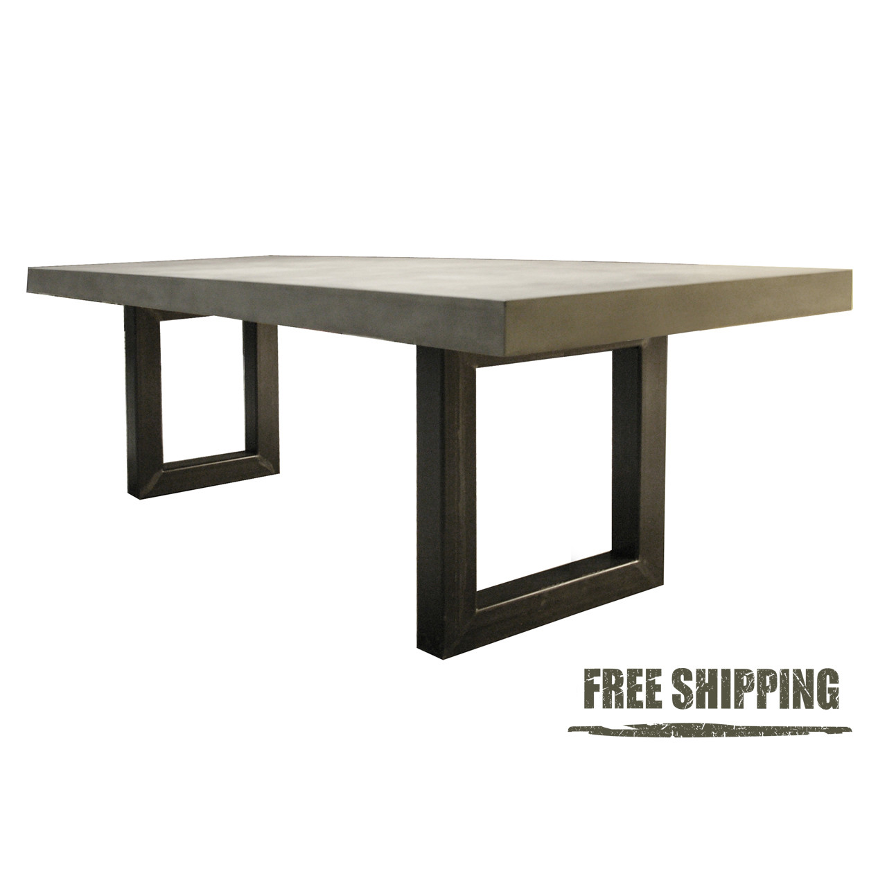 zen concrete dining table dining table. Black Bedroom Furniture Sets. Home Design Ideas