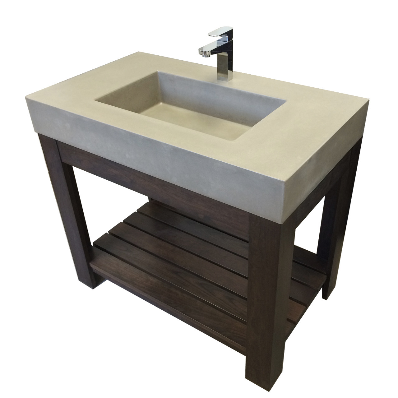 Trueform 36 lavare vanity with concrete rectangle sink for Custom home selection form