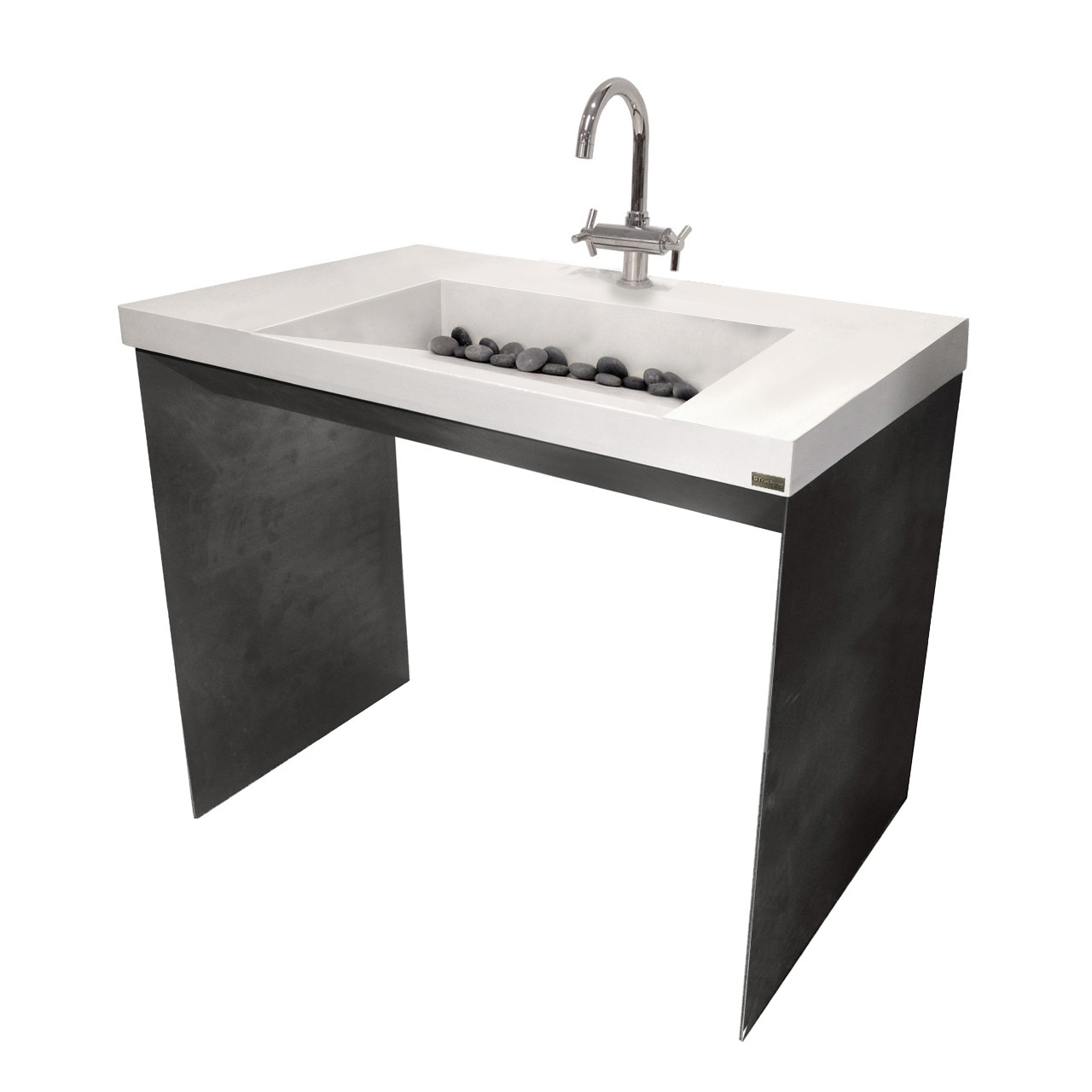 Ada 40 contempo bathroom vanity sink trueform concrete for Ada compliant bathroom sink