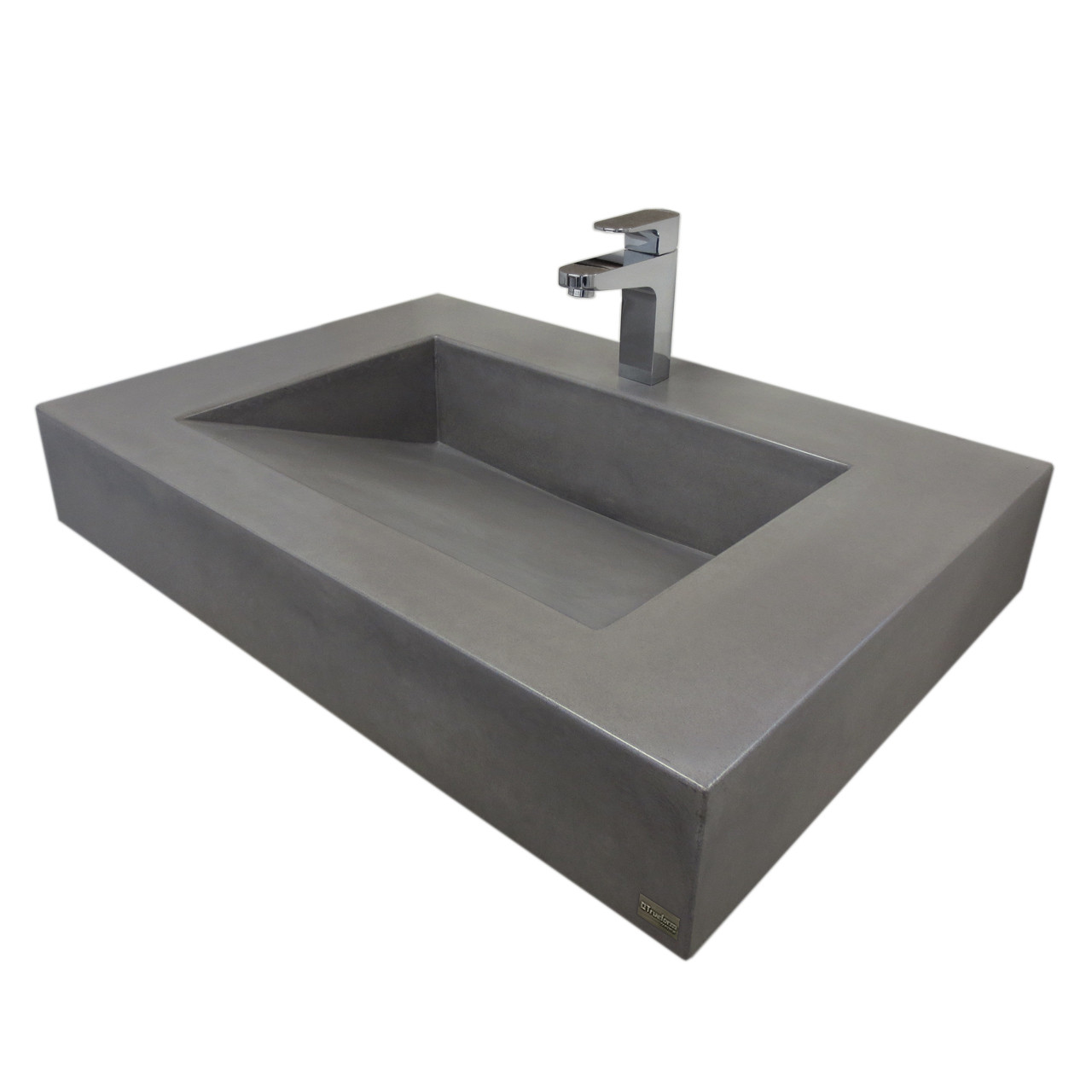 30 Quot Floating Ada Concrete Bathroom Sink Trueform