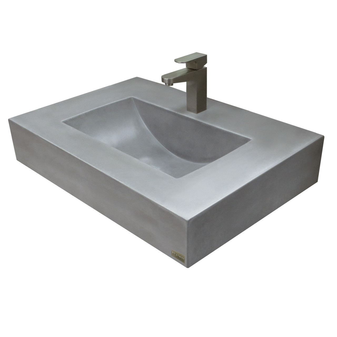 Trueform 30 Floating Concrete Lacus Sink Is A Custom Modern Sink With