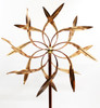 dancing willow leaves wind sculpture head
