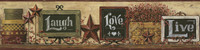 Country Keepsakes Country Chalkboard Shelf Border Wallpaper AC4405BD by York