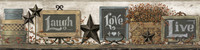 Country Keepsakes Country Chalkboard Shelf Border Wallpaper AC4406BD by York