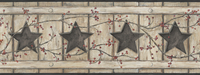 Country Keepsakes Country Cutout Star Wallpaper AC4412BD by York