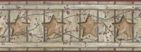 Country Keepsakes Country Cutout Star Wallpaper AC4413BD by York