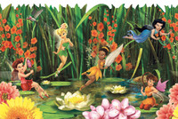 Walt Disney Kids Fairies & Lily Pads Border