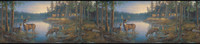 Lake Forest Lodge Cabin Boards Wallpaper WG0307LM by York
