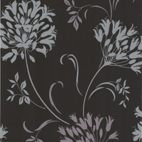 Nerida Charcoal Floral Silhouette