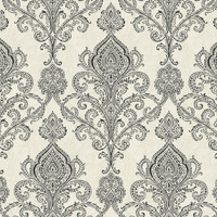 Black Linear Damask