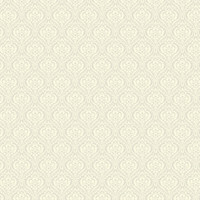 Cream Mini Ogee Damask