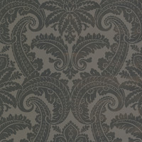 Brown Foil Damask