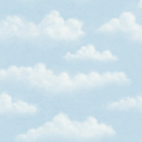Amelia Blue Puffy Clouds Wallpaper