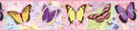BFF Pink Butterflies And Stars Border
