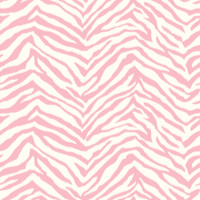 Alice Rose Faux Zebra Stripes Wallpaper
