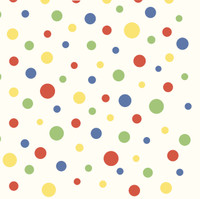 Circus Blue Polka Dot Wallpaper