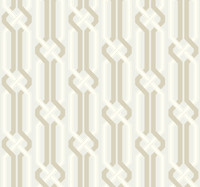 silver pearl, light taupe, white Carey Lind Vibe  Criss Cross Wallpaper