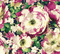 navy & white & pink & purple & cream & amber & yellow & green & green Watercolors Watercolor Poppy Wallpaper