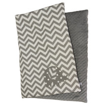 SIMPLY GREY Play Blanket with Elephant Applique