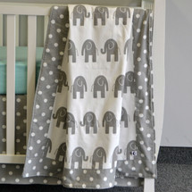 ELEPHANT JOY Baby Blanket