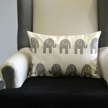 ELEPHANT JOY Lumbar Nursery Pillow - Elephants