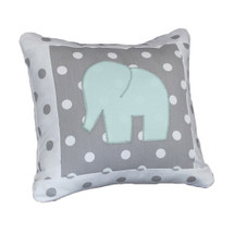 ELEPHANT JOY Elephant Appliqué Nursery Pillow