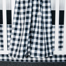 "Cozy Plaid ""Classic"" Baby Crib Blanket - White and Black"