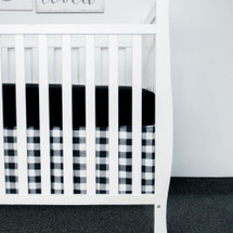 COZY PLAID Crib Skirt