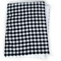 COZY PLAID Play Blanket - White and Black Plaid