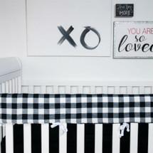 COZY PLAID Baby Crib Rail Protector