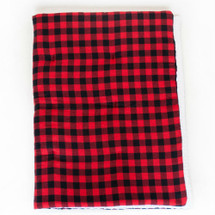 COZY PLAID Play Blanket - Red and Black Plaid