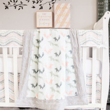 WOODLAND FOX 4PC Set (Blanket, Skirt, Sheet & Rail Protector)